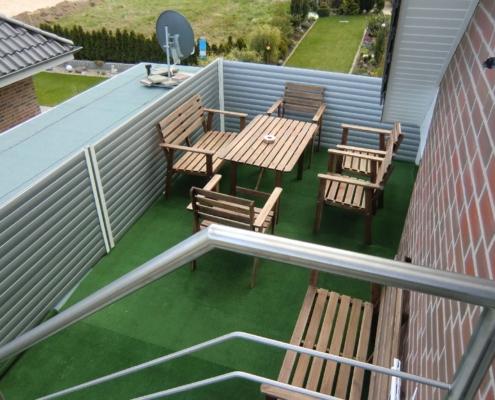 Ferienwohnung Feldblick - Balkon