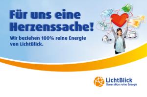 Für uns eine Herzenssache - 100% reine Energie von Lichtblick!