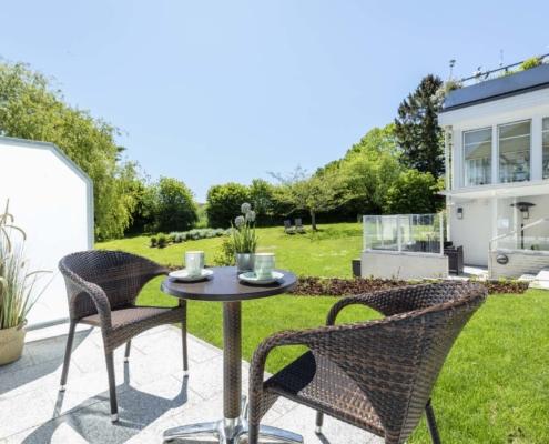 Doppelzimmer Typ Juniorsuite mit Gartenblick - Terrasse