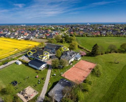 Lage App-C im Hofhotel Krähenberg Grömitz Ostsee